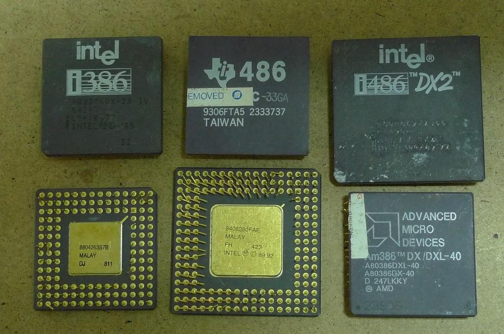 CPU 186, 286, 386, 486, K5