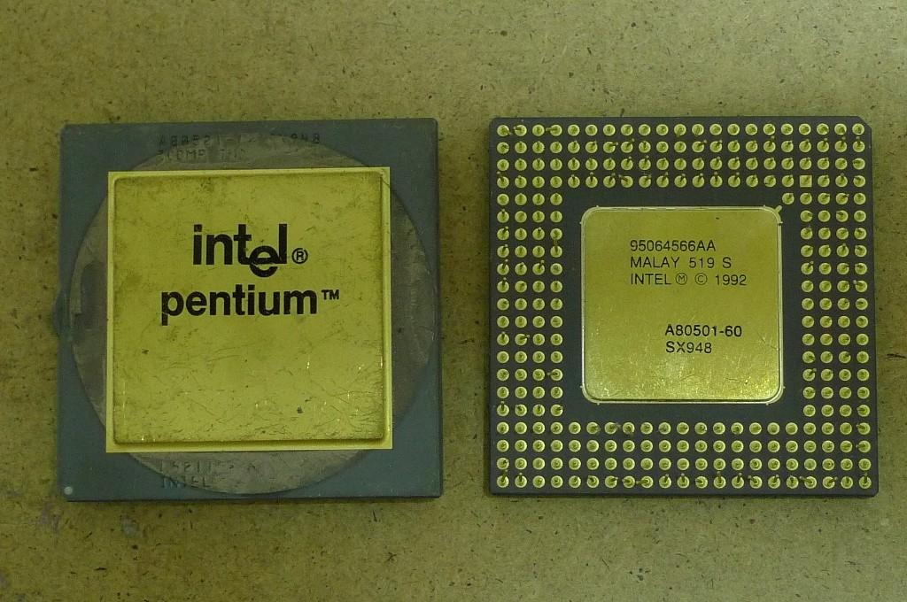 CPU obojstranne zlatené